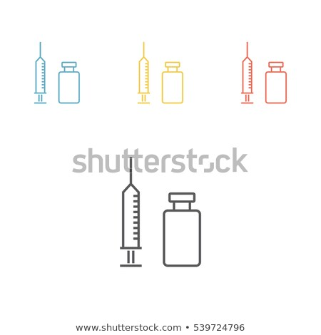 vaccination concept with syringe and vial icon stock photo © -talex-
