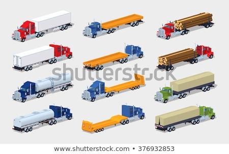 トラック · 漫画 · ビッグ · トラクター · 赤 · クロム - ストックフォト © mechanik