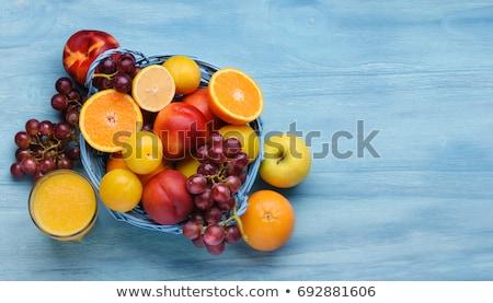 Summer diet, fresh fruits Stock photo © neirfy