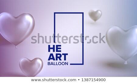 cuore · pallone · isolato · bianco · party · compleanno - foto d'archivio © pikepicture