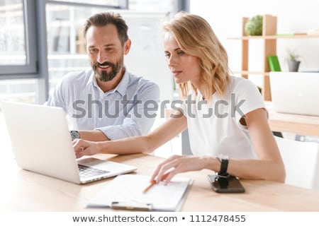 Two businessmen working as a team Stock photo © Giulio_Fornasar