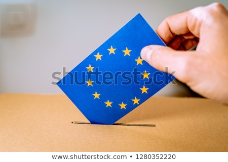 Votação caixa papel europeu eleições texto Foto stock © limbi007
