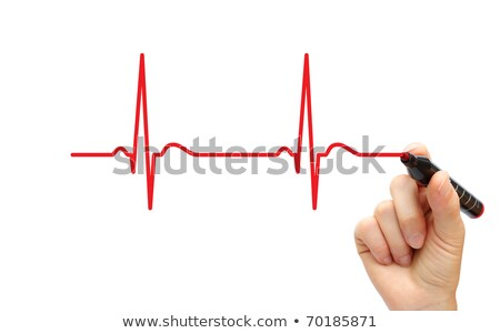 Hand drawing ECG line Stock photo © rufous