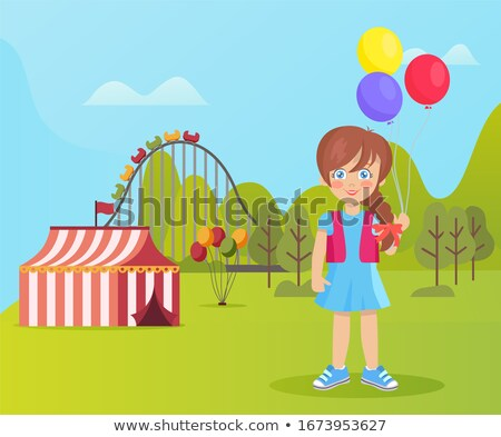 Amusement Park Tent with Stripes, Nature Weather Stock photo © robuart