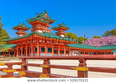 Santuário templo quioto Japão árvore fundo Foto stock © daboost
