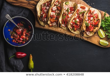 Mexicaans eten eps 10 diner cafe Stockfoto © netkov1