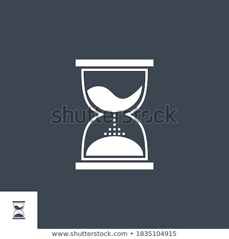 Hourglass related vector glyph icon. Stock photo © smoki