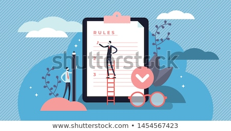 Business rule concept vector illustration Stock photo © RAStudio