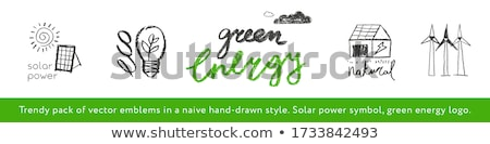 alternative eco friendly power stamp Stock photo © szsz