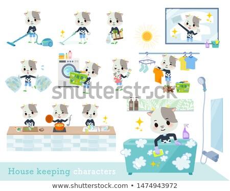 animal Cow boy_housekeeping stock photo © toyotoyo