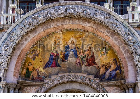 Last Judgment mosaic from 1836 on Basilica di San Marco in Venic Stock photo © boggy
