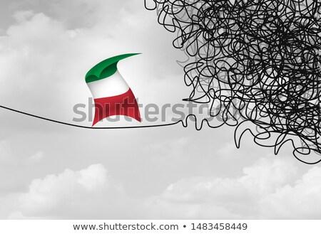 イタリア語 政府 不確実性 リスク 政治的 危機 ストックフォト © Lightsource