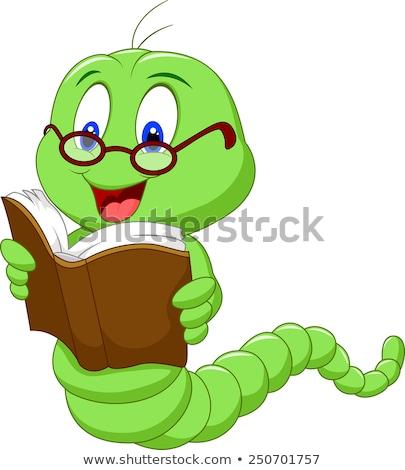 Caterpillar книжный червь червя книга чтение Cute Сток-фото © Krisdog