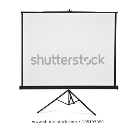 ポータブル プロジェクタ 画面 ホワイトボード 孤立した 白 ストックフォト © 5xinc