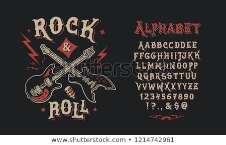 Rock · tampon · noir · grunge · guitare · électrique - photo stock © andrei_