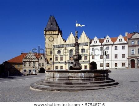Hoofd- vierkante Tsjechische Republiek historisch huis reizen Stockfoto © borisb17