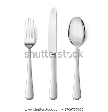 столовое серебро иллюстрация свечу лоток Сток-фото © lenm