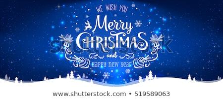 Brillante brillo azul Navidad Foto stock © olehsvetiukha