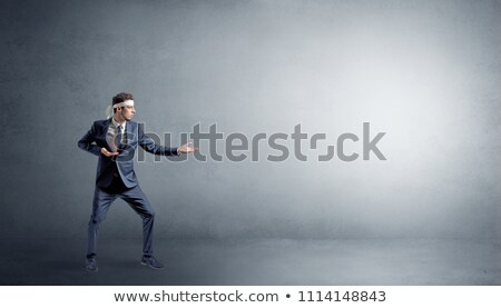 Klein karate man vechten lege Stockfoto © ra2studio