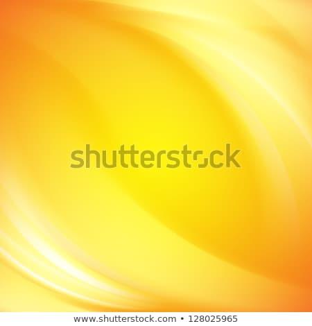 absztrakt · citromsárga · hullámos · forma · terv · narancs - stock fotó © sarts