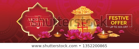 beautiful dhanteras festival sale banner decorative background Stock photo © SArts