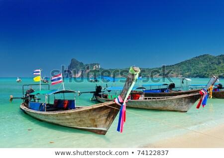Geleneksel tekne tropikal deniz kaya ada Stok fotoğraf © vapi