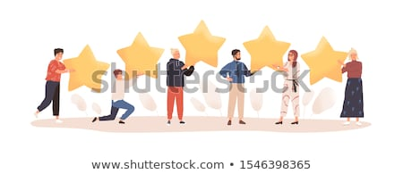 Man with Star, Business Success, Reputation Vector Stock photo © robuart