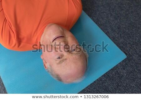 yoga · adam · stüdyo · beyaz · eğitim · karga - stok fotoğraf © wavebreak_media