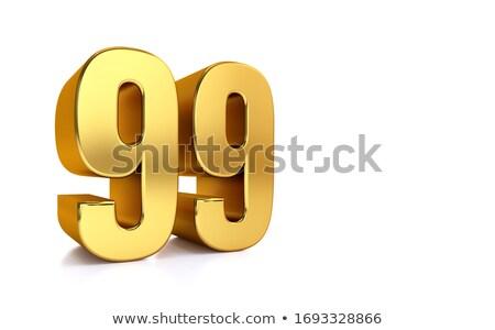 Negen procent witte geïsoleerd 3D 3d illustration Stockfoto © ISerg