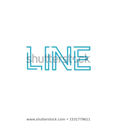 Woord lijn lineair schets stijl vector Stockfoto © kyryloff