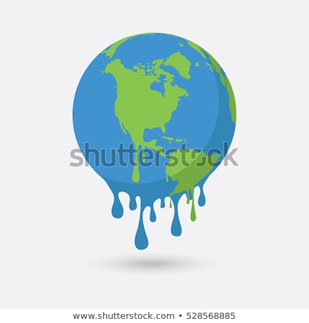 Global warming poster with melting earth Stock photo © bluering