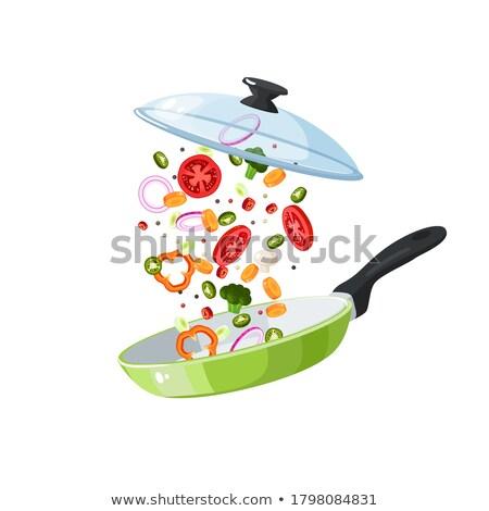 Pan with sliced veggies Stock photo © jossdiim