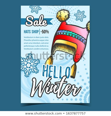 Winter Cap Seasonal Warmer Wear Color Vector Stock photo © pikepicture