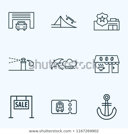 Police Department Onboarding Elements Icons Set Vector Stock photo © pikepicture