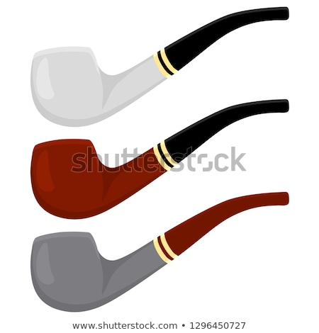 Tobacco Pipe Classic Wooden Smoke Equipment Vector Stock photo © pikepicture