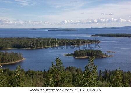Ufer weiß Meer Russland Insel Wasser Stock foto © borisb17