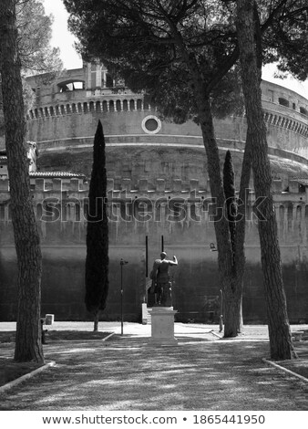 Mausoleum of Hadrian, known as the Castel Sant'Angelo in Rome Stock photo © Zhukow