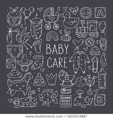Baby Pflege cute Hand gezeichnet Doodle Vektor Stock foto © foxbiz