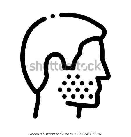 Human Facial Bristle Icon Outline Illustration Stock photo © pikepicture