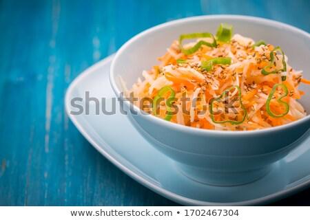 Diétás sárgarépa saláta szezámmag egészséges étel étel Stock fotó © brebca