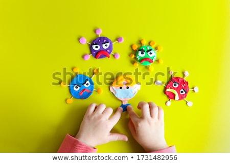 глина желтый вирус вирусный эпидемия Сток-фото © dashapetrenko