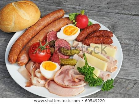холодно мяса яйца рынке яйцо красный Сток-фото © photosil