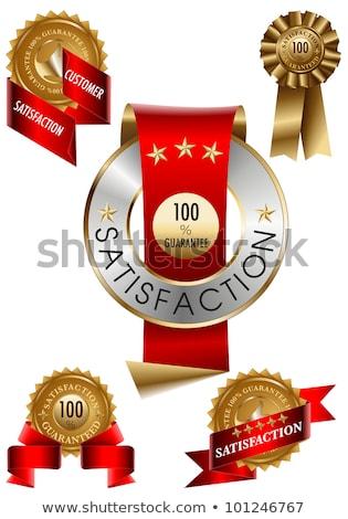 Satisfaction garantir sceau design Photo stock © SArts