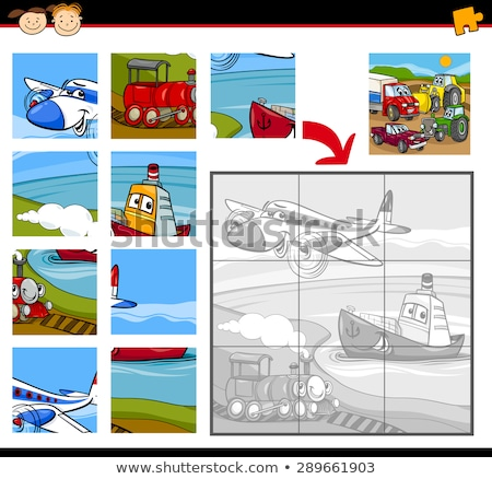 Cartoon Vector Illustration of Education Jigsaw Puzzle Game Stock photo © natali_brill