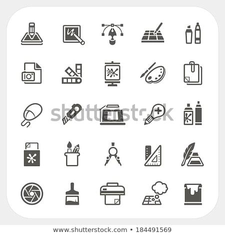Design gráfico ferramenta equipamento néon papel trabalhar Foto stock © yupiramos