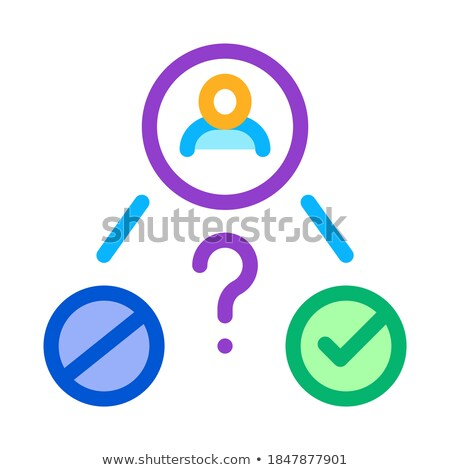 uncertain state of man icon vector outline illustration Stock photo © pikepicture