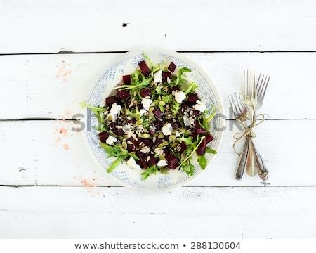 Gezondheid salade bieten feta groene Stockfoto © furmanphoto