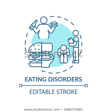 Stress eten vector metafoor ongezond voedsel gedwongen Stockfoto © RAStudio