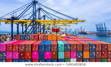Container ship loading in port Stock photo © jsnover