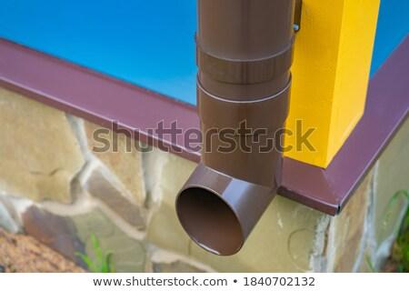 ржавые каменной стеной строительство стены промышленных ржавчины Сток-фото © trgowanlock
